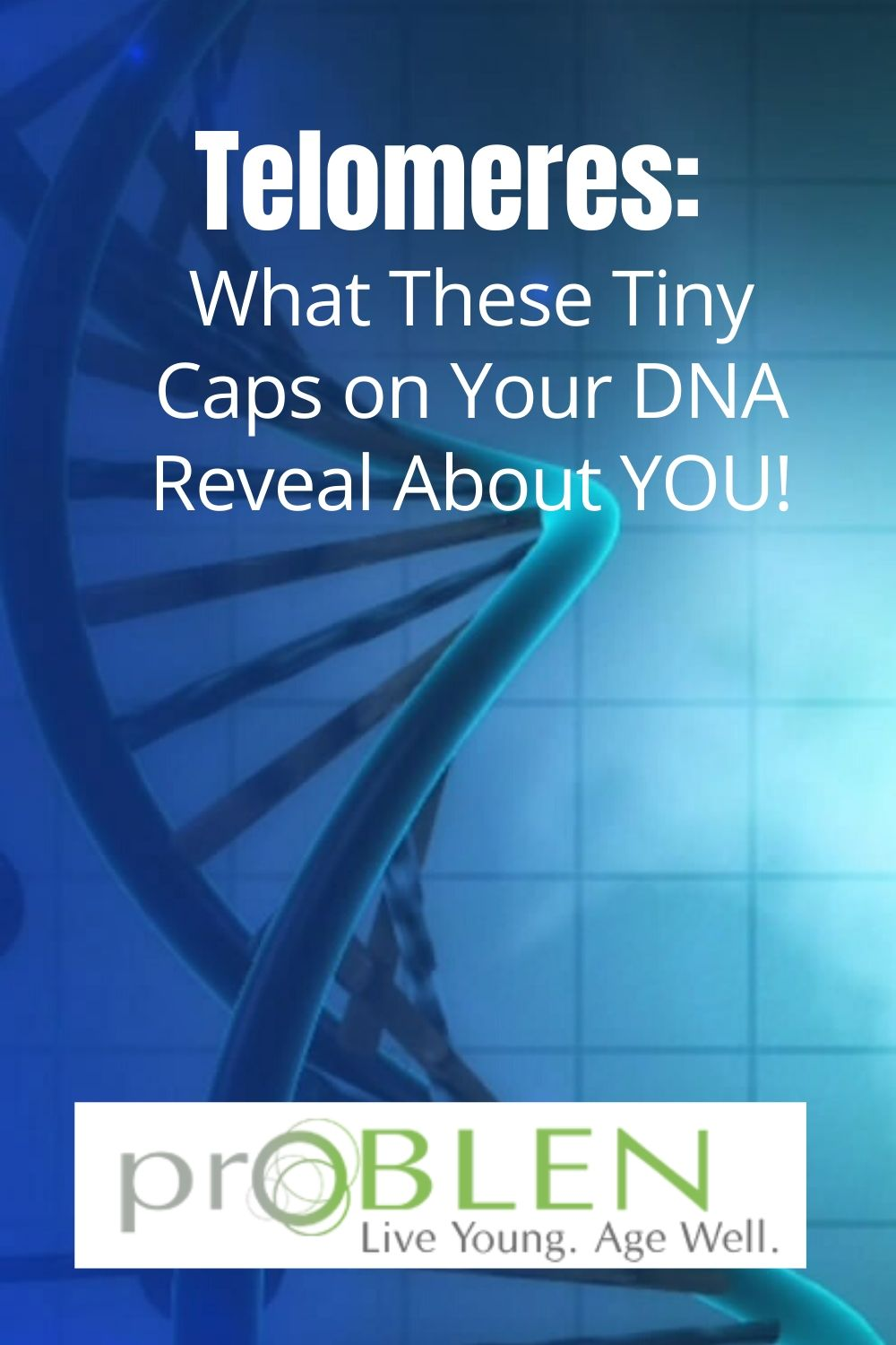 Telomere DNA booster anti-aging caps on DNA improve health
